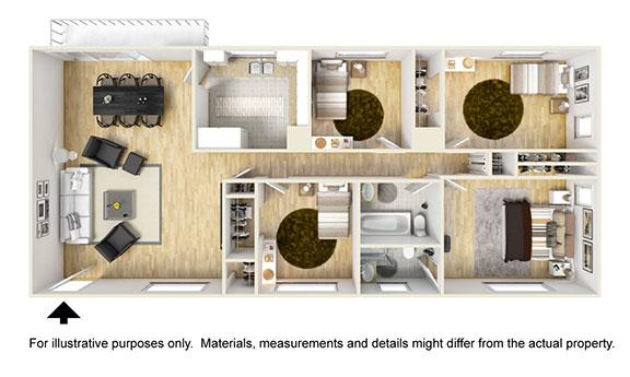 4 BR Apartment